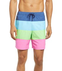 vineyard vines island chappy swim trunks, size small in 4-panel multi at nordstrom