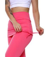 calã§a legging miss blessed premium com saia sobreposta rosa chiclete - rosa - feminino - poliamida - dafiti