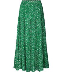 maxi-rok met lurex bonny  groen