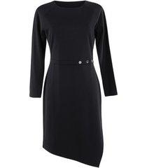 jurk lisca estelle lange mouwen jurk zwart