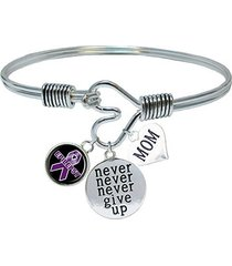 custom epilepsy awareness never give up choose mom or dad charm only bracelet je