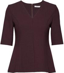 ipeplum blouses short-sleeved röd boss business