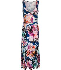 jurk alba moda blauw/pink