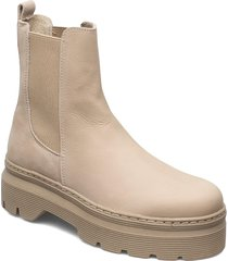 viola nubuck shoes boots ankle boots ankle boot - flat beige pavement