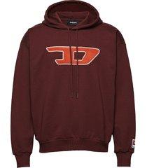 s-division-d sweat-shirt hoodie trui rood diesel men