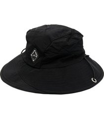 a-cold-wall* logo plaque bucket hat - black