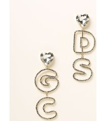 gcds jewel maxi gcds earrings with crystals