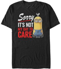 fifth sun minions men's sorry not my day to care short sleeve t-shirt