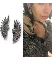 orecchini di orecchini dell'orecchio della boemia orecchini a forma di ventaglio a forma di ventaglio con strass geometrici per le donne