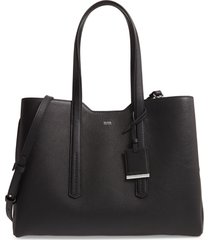 boss taylor business leather tote -