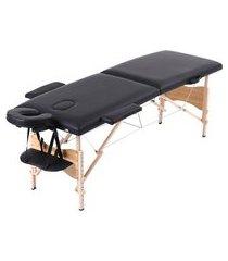 cama maca de massagem portátil diva tl-msg-11 preta trevalla beauty