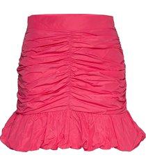 taffeta skirt kort kjol rosa gina tricot