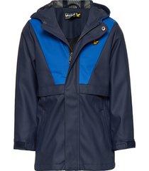 zip through showerproof jacket outerwear rainwear jackets blauw lyle & scott junior