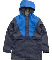 zip through showerproof jacket