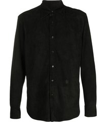 loewe embossed anagram shirt - black