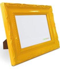 porta retrato 15x21 cm nerderia e lojaria retro amarelo retro amarelo