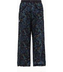 and wander pantalone in tessuto blu