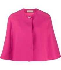 emilio pucci short buttoned cape - pink