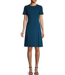 jannie pleated wool dress