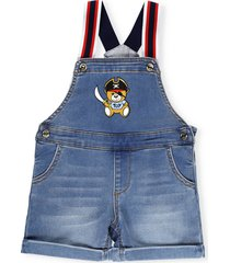 moschino cotton jeans overalls