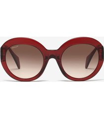 rodeo round frame sunglasses red 1