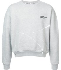 enfants riches déprimés fleece crew neck sweatshirt - grey