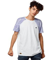 camiseta manga raglan purple flame masculina - masculino