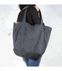 lazy bag torba czarna na zamek / vegan / eco