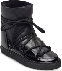 inuikii sneaker gloss wedge shoes boots ankle boots ankle boot - flat svart inuikii