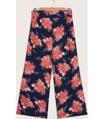 pantalón floral azul 14