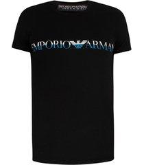 emporio armani t-shirt groot logo - zwart
