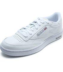 tenis blanco reebok club c 85