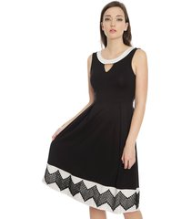 vestido anna field corto negro - calce regular