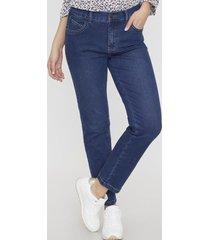 jeans 1 botón recto push up azul medio corona