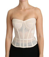 bustier strapless corset cotton top