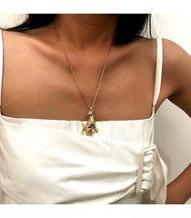 collana alla moda in argento con pendente pendente in leopardo punk per le donne collana con nastro in oro