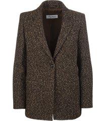 max mara giove woman blazer in wool blend tweed