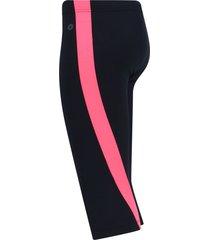 legging corto con franja salmón color rosado,talla s