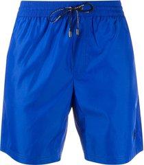 dolce & gabbana short de natação com detalhe de logo - azul