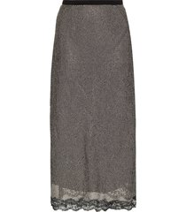 christopher kane crystal-embellished midi skirt - white