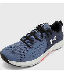 tenis training azul-gris-rojo under armour ua charged commit 2