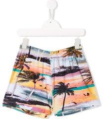 molo alaine tropical-print casual shorts - orange