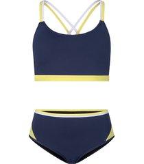 bikini con bustier ad asciugatura rapida (blu) - rainbow