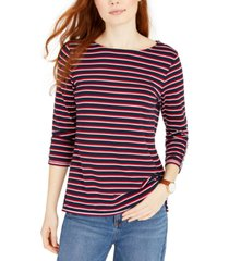 tommy hilfiger contrast-trim striped top