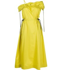 3.1 phillip lim off-shoulder flared dress - yellow