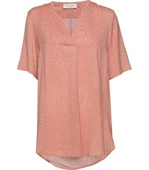 blouse ss blouses short-sleeved roze rosemunde