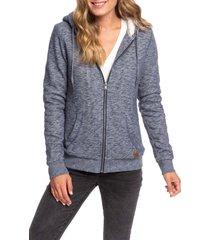 women's roxy trippin zip hoodie, size small - blue