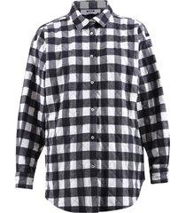 msgm tartan pattern shirt