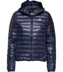 varilite down jacket w gevoerd jack blauw adidas performance