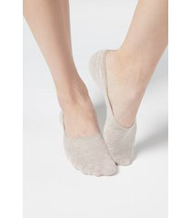 calzedonia linen blend invisible socks woman nude size 40-41